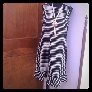 Lands End Nautical striped dress, size 10